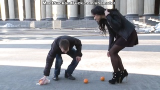 Hot stranger porn sex started with the oranges Thumb