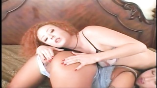 Audrey Hollander getting ass fucked in threesome Thumb