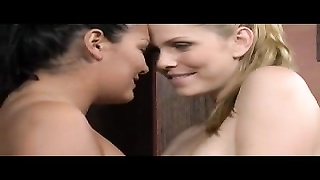 Young lesbians with great tits licking and fingering Thumb