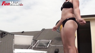 FUN MOVIES German Amateur lesbians fucking on a rooftop Thumb