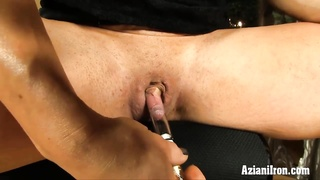Aziani Iron buff chic uses clit pump on her big clit Thumb