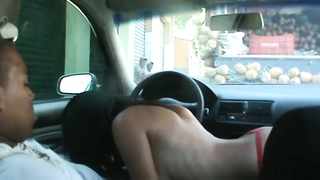 Brasilian sex on car Thumb