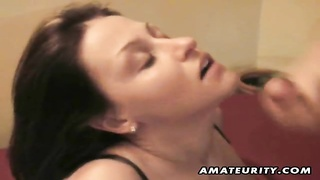 Watch this horny amateur girlfriend in this homemade facial cumshot compilation ! She loves cum on h Thumb
