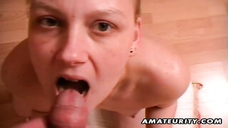 A hot amateur girlfriend homemade hardcore action with hot blowjob and a nice facial cumshot ! Thumb