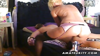 A busty blonde amateur escort sucks and fucks doggystyle with nice cumshot on her hot ass ! Thumb