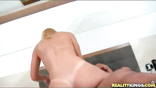 Brazilian blonde loves hard dick in her ass Thumb