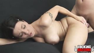 Pulling out of her asshole and into her mouth Thumb