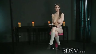 BDSM XXX Young Girl gets a shock from sexy lesbian Mistress Thumb