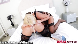 AnalAcrobats Anal Outtakes With HUGE Dildo and BBC Thumb