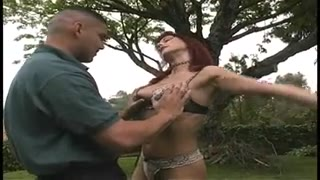Hollywood slut gets pounded hard by 2 tough knobs  in all her slots external Thumb