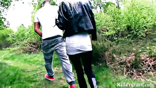 blonde milf hoe pounded in woods Thumb