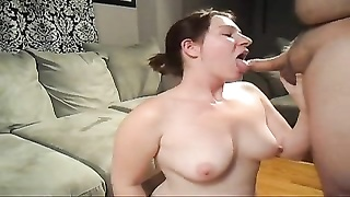 nice young doll  deep-throating and facial Thumb