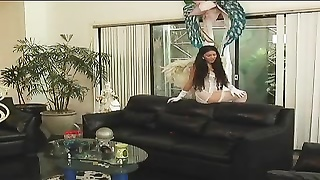 clean asian in pearls and gloves unclothes to explain her taut assets Thumb