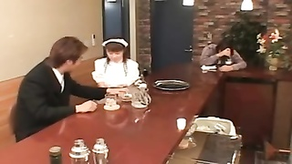 buxomy Japanese waitress screwed in public Thumb