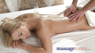 massage Rooms young busty babe has large tits lubed Thumb