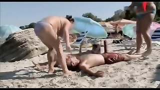 bare and hysterical big prick on Beach Thumb