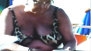 Russian busty ragged Grannies on the Beach! amateur! Thumb