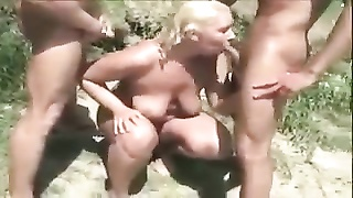 Nude Beach - amateur old MMF without a condom  Bi-Sex Thumb