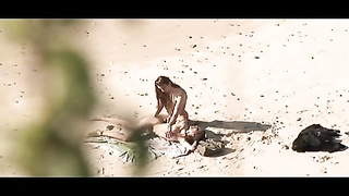 Voyeur on public beach. torrid  youthful couple sex again Thumb