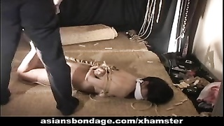 Beautiful girl tied up and caned Thumb
