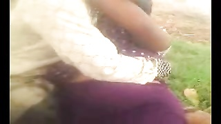 Desi Indian large knocker aunty took hold of outdoor part1 Thumb