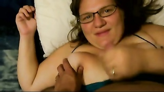 BBW hand job #7 (On The Bed) Thumb