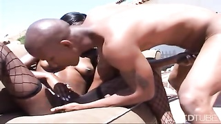 Getting it on with microscopic starlet  outdoor Thumb