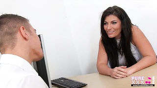 PureXXXFilms buxom super hot mummy  teacher fucked Thumb