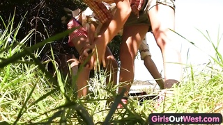 chicks Out West - skinny blondy lesbians Thumb
