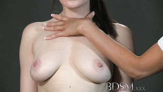 BDSM XXX Dom makes suspended sub pussy drizzle Thumb