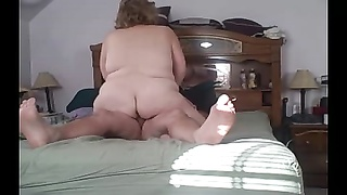 Bbw wifey  fucking me upright again, enchanting that wooly donk Thumb