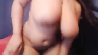 desirable fat & huge-titted black  goddess on Cam Thumb
