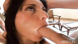 beautiful diva gets ass and mouth gangbanged Thumb