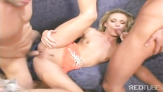 small blondie gets both slots packed with jizz Thumb