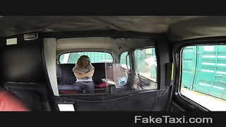FakeTaxi - huge-chested blondie with a ideal  control Thumb