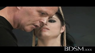 BDSM XXX - unlit haired sub has orbs  roped Thumb
