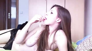 remarkable  whore drinks jizz from a condom Thumb