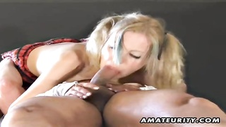 youthful fledgling  gf gargles  and pounds with facial cum shot Thumb