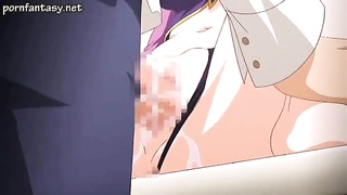 huge-chested hentai stunner spreads her gams Thumb