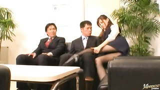3x-onlinetk. stunning chinese stunner Ameri Ichinose takes fragment in insatiable group sex free Par Thumb