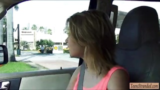 teenage  Dakota Skye gets fucked in the car and received facial Thumb