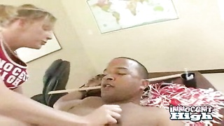 while blowing her profs sunless fuck-stick this cheerleader gets her donk spanked with a Thumb