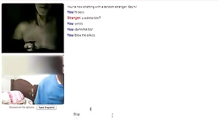 Omegle- super hot 18 yrs ancient teen command her titties + gift orbs Thumb