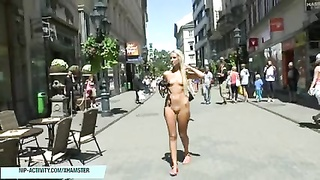 Jenny shows her remarkable  bare body on public streets Thumb