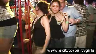Disco Party Footage with nude crazy chicks Thumb