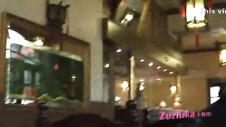 informal exhibitionist in oriental Restaurant - movie Thumb