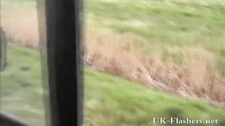 crazy public flashers outdoor spurting and masturbation of toying yellow-haired Cryste Thumb