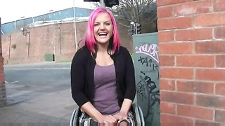 Wheelchair glide Leah Caprice in uk flashing and outdoor nudity Thumb