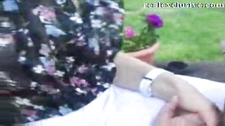 UK milf Flasing and taunting  in Public Thumb