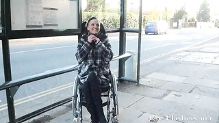 Paraprincess public nudity and handicapped pornstar flashing Thumb